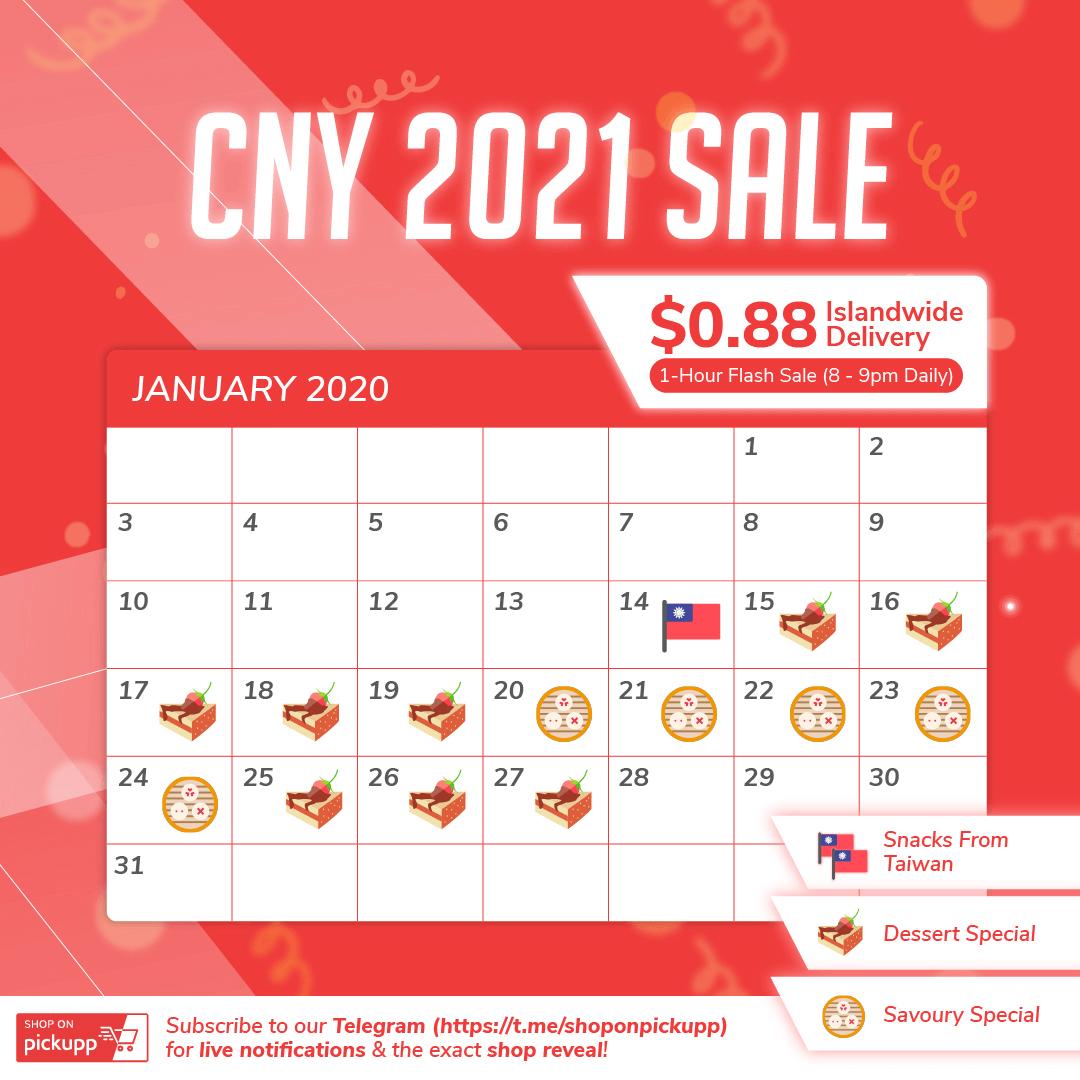 Shop On Pickupp CNY 2021 Calendar