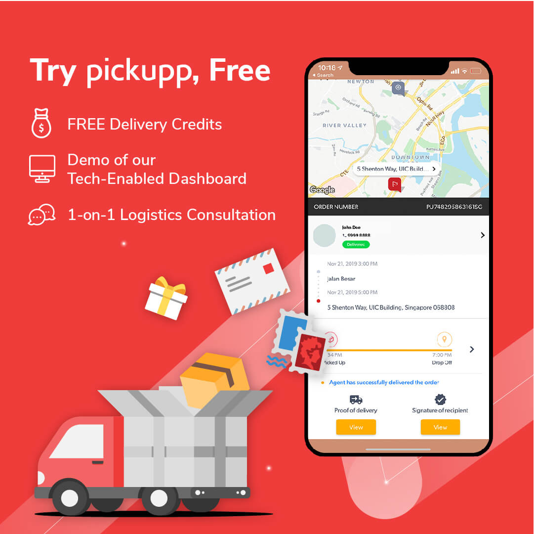 Free Delivery Credits from Pickupp - Logistics