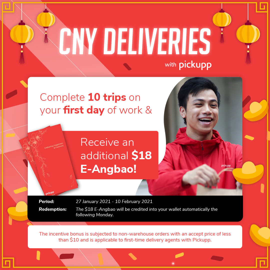 Pickupp Heroes Delivery Agent First Trip Incentive