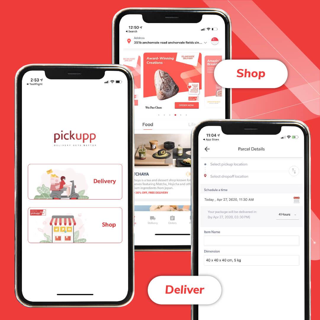Pickupp User app - Shop and Deliver