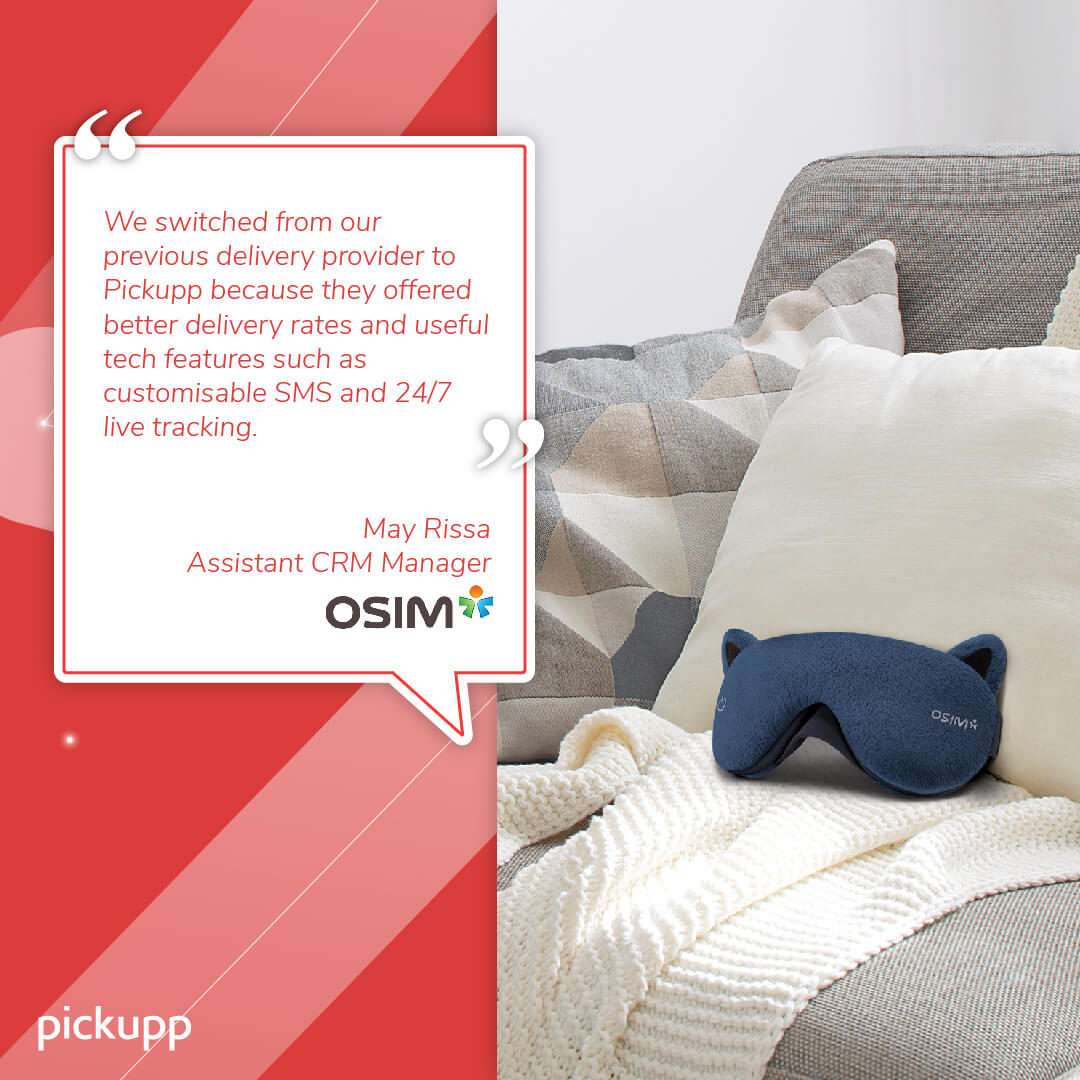 OSIM Delivers With Pickupp
