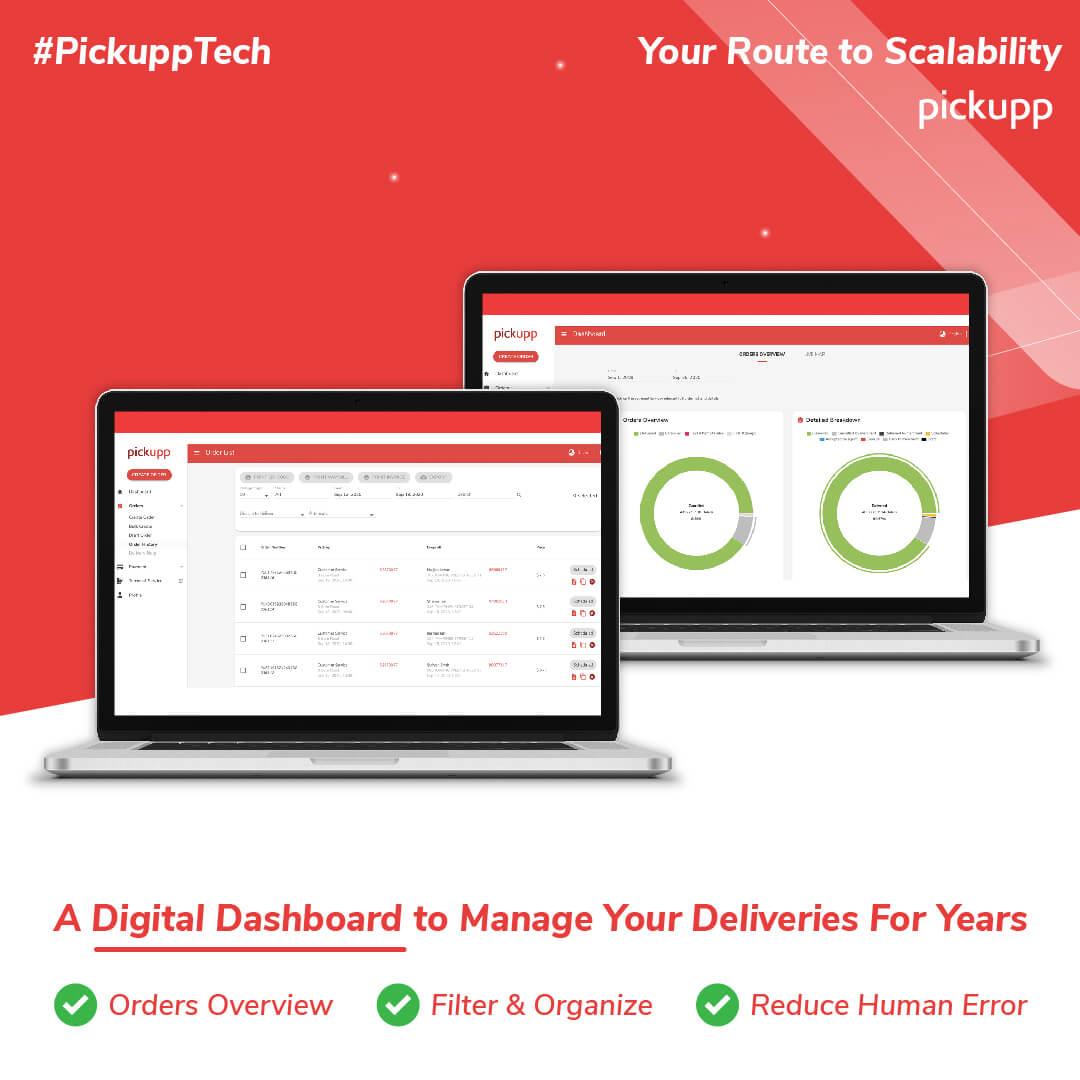Pickupp's Digital Dashboard