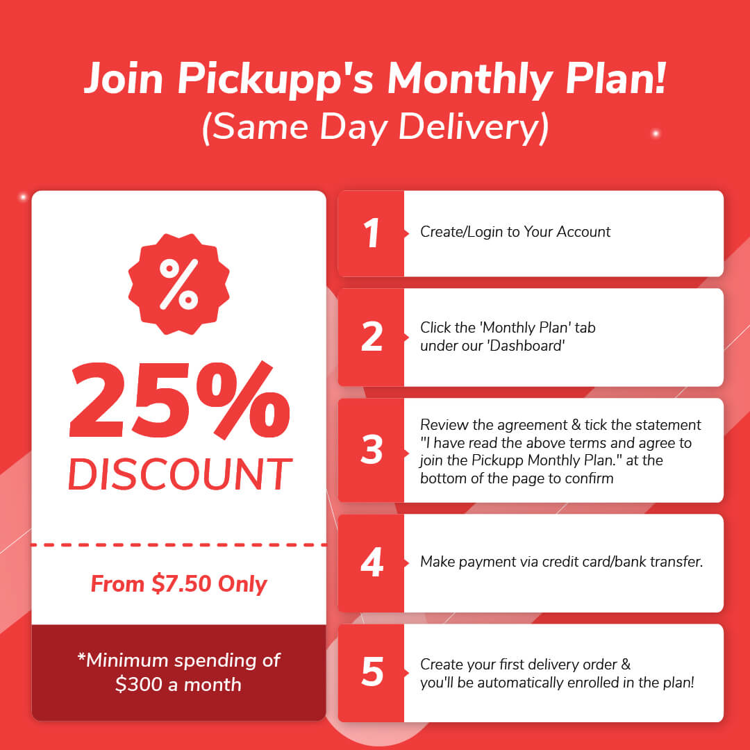 Pickupp Monthly Corporate Plan - Same Day Delivery